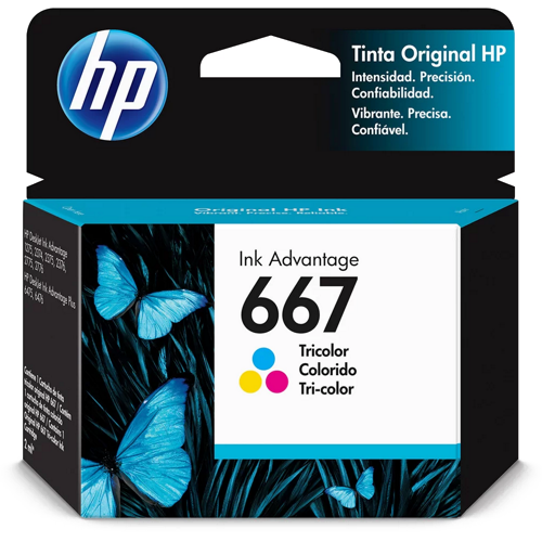Cartucho de Tinta HP 667 Colorido Advantage Original