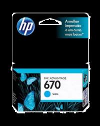 Cartucho de Tinta HP 670 Ciano Advantage Original